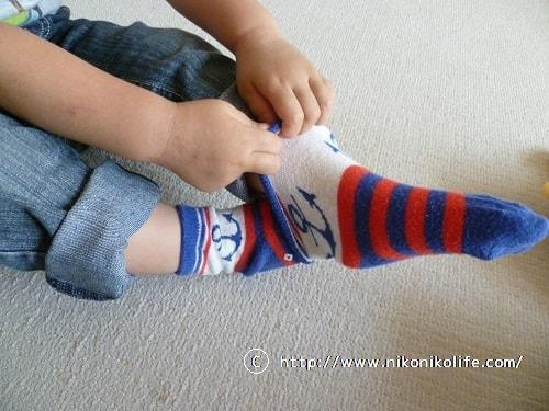 2歳児の靴下の履き方-min