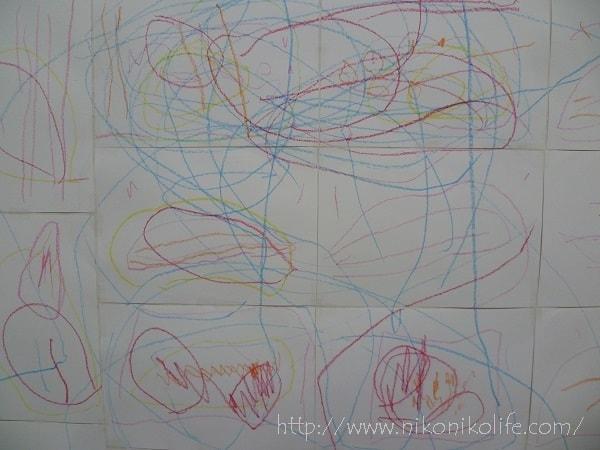 3歳3か月の子どもが壁に落書きをすることに興味を持つ