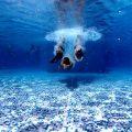 年長さん(5歳)、夏の短期水泳教室に参加する